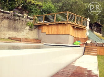 Piscine bois ipé débordement+ terrasse