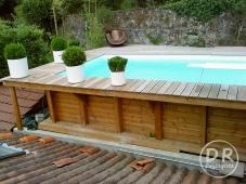 Piscine bois ipé sur toit acces difficile