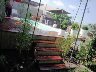Piscine terrasse bois