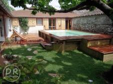 Piscine terrasse bois ipé + terrasse
