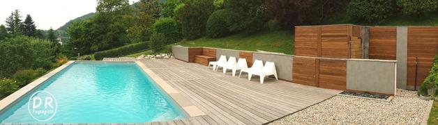 Terrasse ipé grisé, habillement ipé récent
