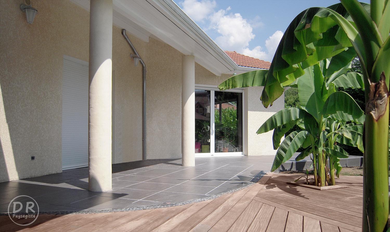 Populaire Terrasse bois / carrelage – David Robert Paysagiste OM88