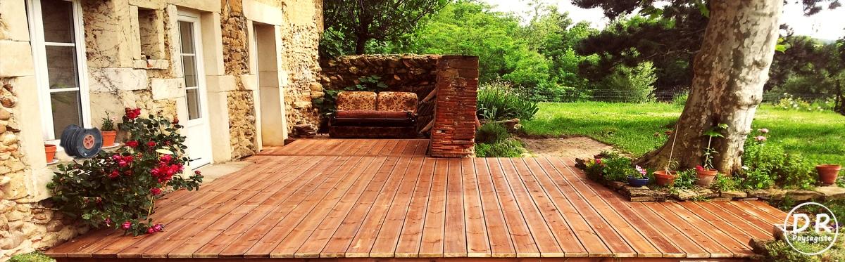 Terrasse bois résineux  David Robert Paysagiste