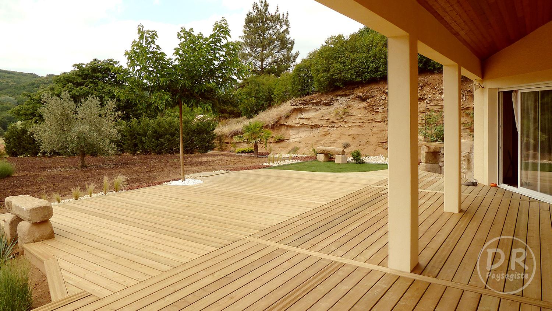 terrasse bois verte