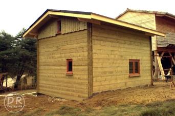 Aménagement extérieur chalet bois