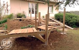 Construction rampe d'accès
