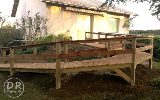 Passerelle, Barri u00e8re et Cl u00f4ture en bois u2013 David Robert Paysagiste # Rampe Accès Handicapé Bois