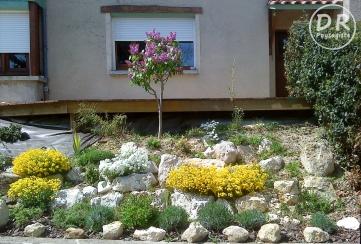 Aménagement extérieur Végétalisation bute roches