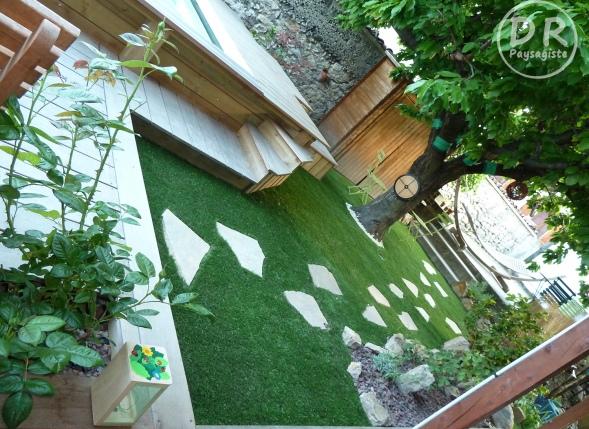 Aménagement extérieur Végétalisation gazon synthétique 2